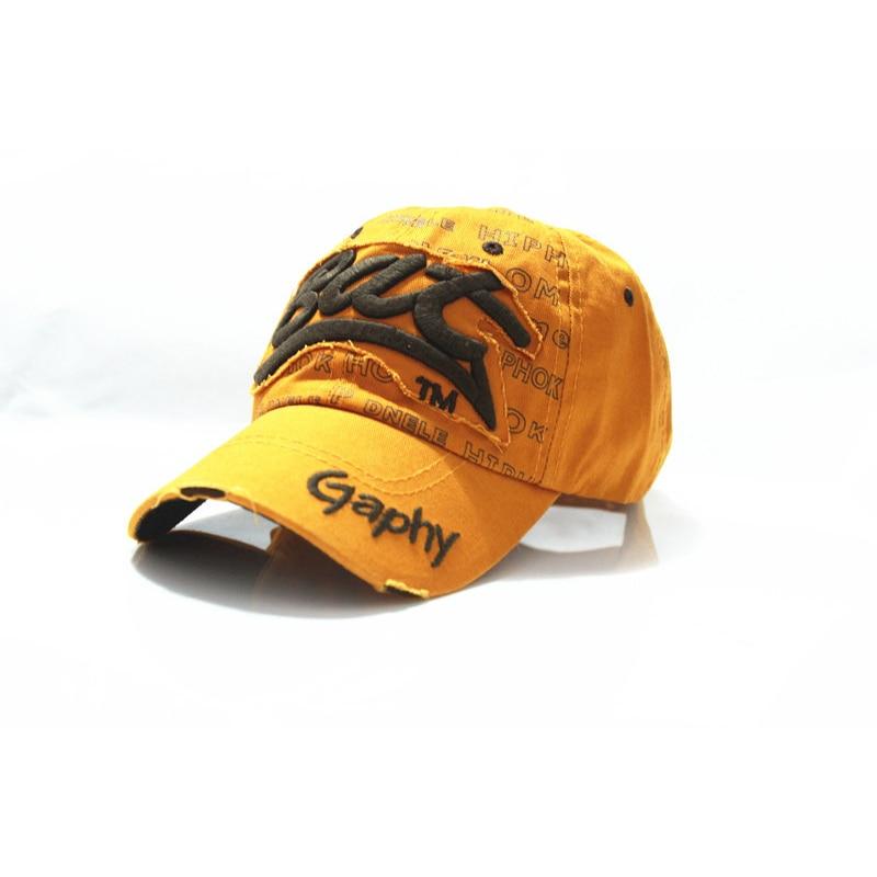 yellow white popular casual baseball cap la cotton
