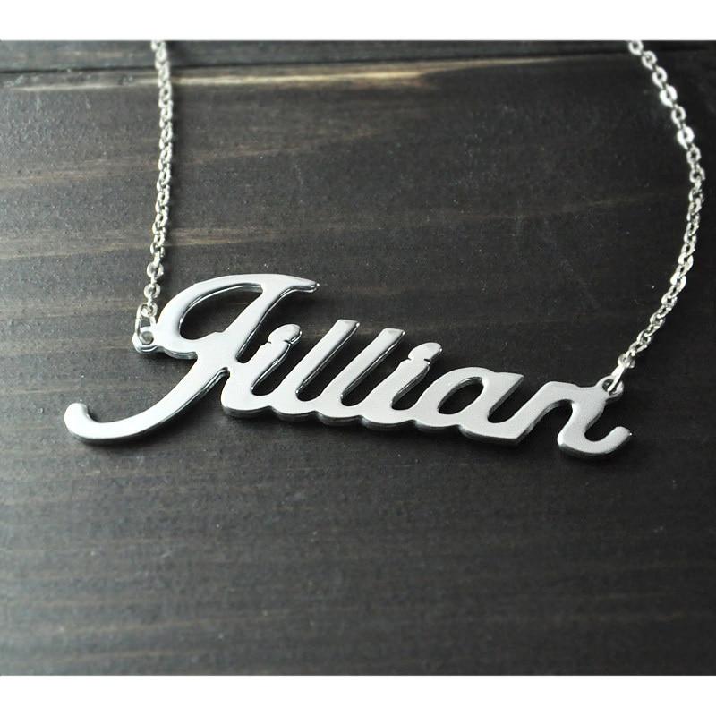 Bilo koja personalizirana ime ogrlica slitina privjesak Alison font - Modni nakit - Foto 2