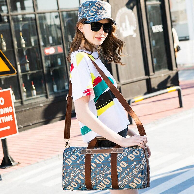 2018 nouveauté lettre Jacquard polyvalent haut loisirs-poignée sac grande capacité voyage sacs pour femmes vente directe réel
