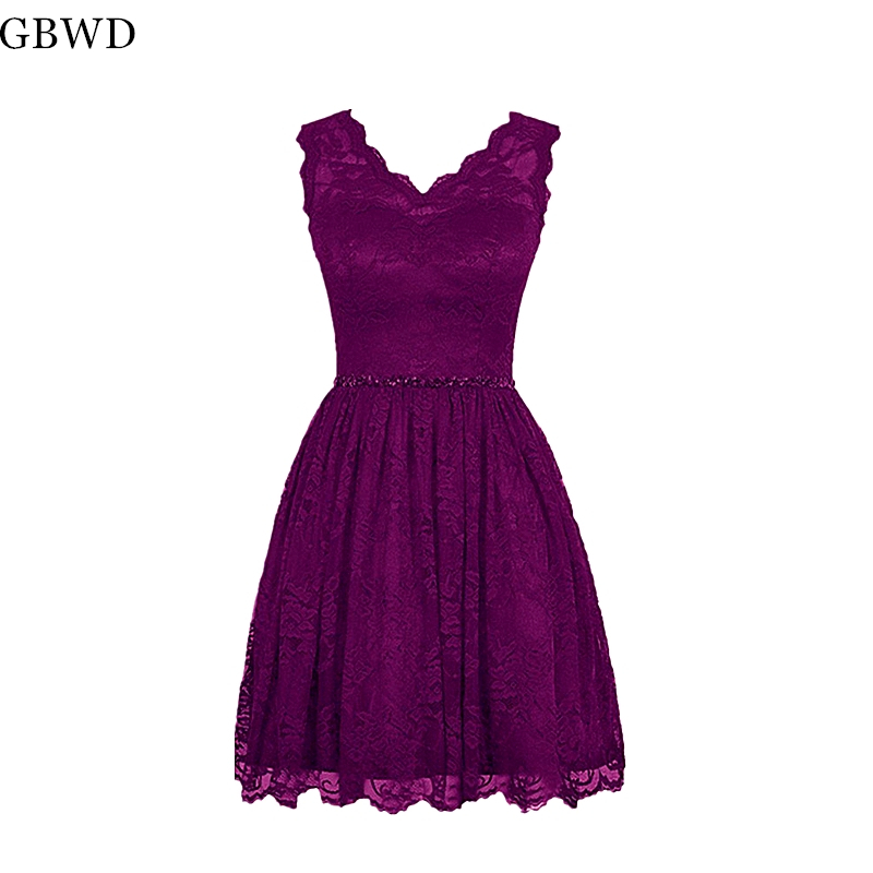 09ef5a315d33c Buy lace evening dress simple short and get free shipping ...