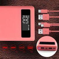 Duplo usb qc 3.0 8x18650 bateria diy power bank box carregador para iphone xiaomi celular tablet t3lb