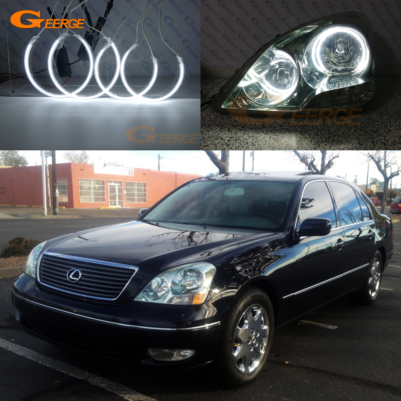 For Lexus Ls430 2001 2002 2003 Excellent Angel Eyes Ultra-6176