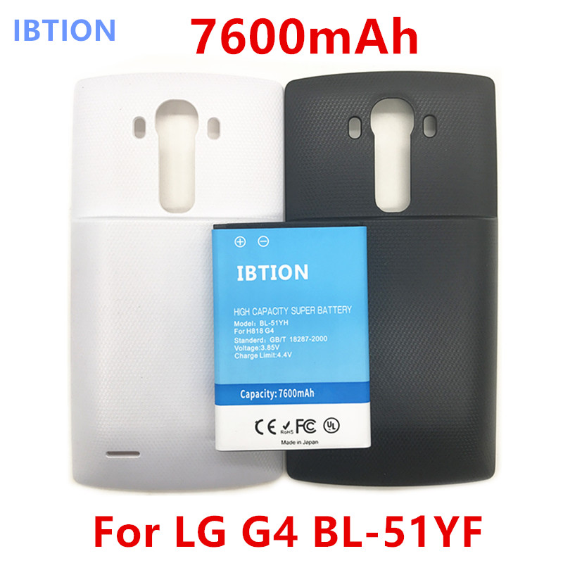 Mobile Phone Batteries battery Back Cover Bl-51yf Battery For Lg G4 H818 H819 Frugal 7600mah High Capacity Thickening The Battery Mobile Phone Parts