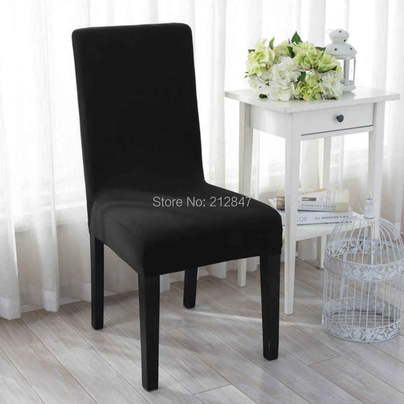 Stretchy Seat Covers Hotel Dining Room Ceremony Kitchen Bar Dining Chair Cover Restaurant Wedding Part Decor Black Dining Chair Cover Chair Coverchair Cover Wedding Decoration Aliexpress