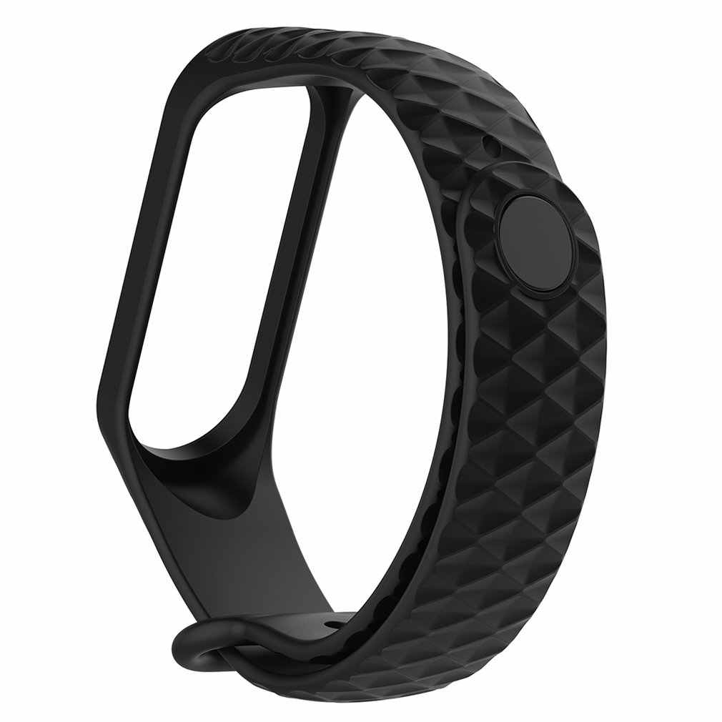 For MI Fitness Bracelet Waterproof Heart Rate Diamond Smart Bracelet Smart Wristband Support for Xiaomi Silica Gel Band