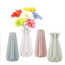 Europe Brief Matt Diamond Porcelain Vase Modern Fashion Ceramic Flower Room Study Hallway Home Wedding Decoration A
