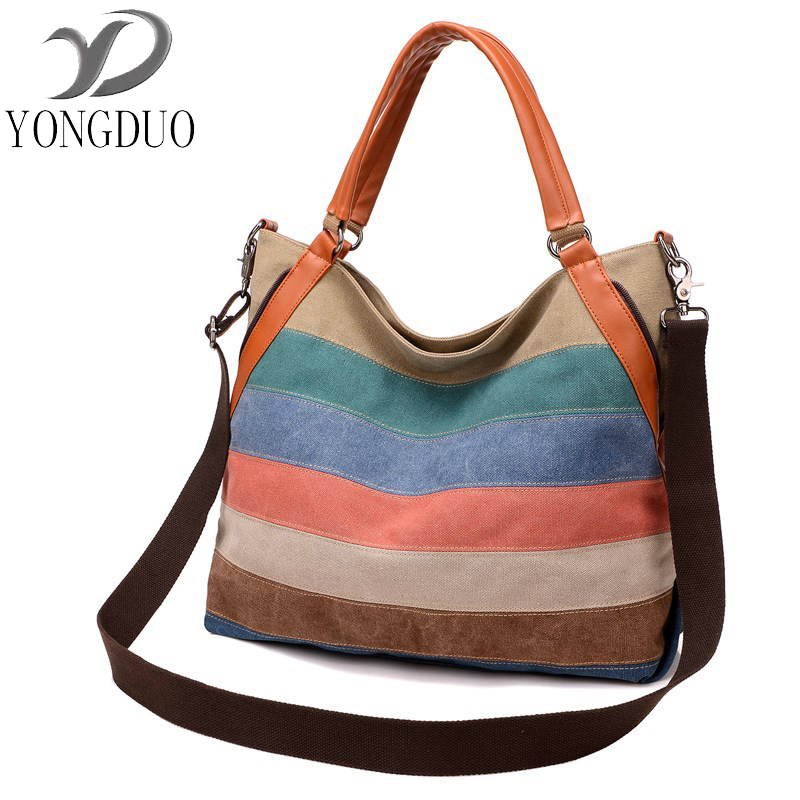 Fashion Canvas Bag Brand Women Handbags Patchwork Casual Women Shoulder Bags Female Messenger Bag Ladies 2017 Spring Purse Pouch squirrel fashion bucket canvas girls cross body shoulder bag vogue pattern brand casual versatile drawstring women handbags