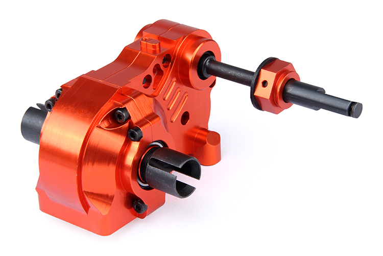 CNC precision machining all metal split gearbox assembly with differential for ROVAN KM HPI BAJA 5B 5T 5SC
