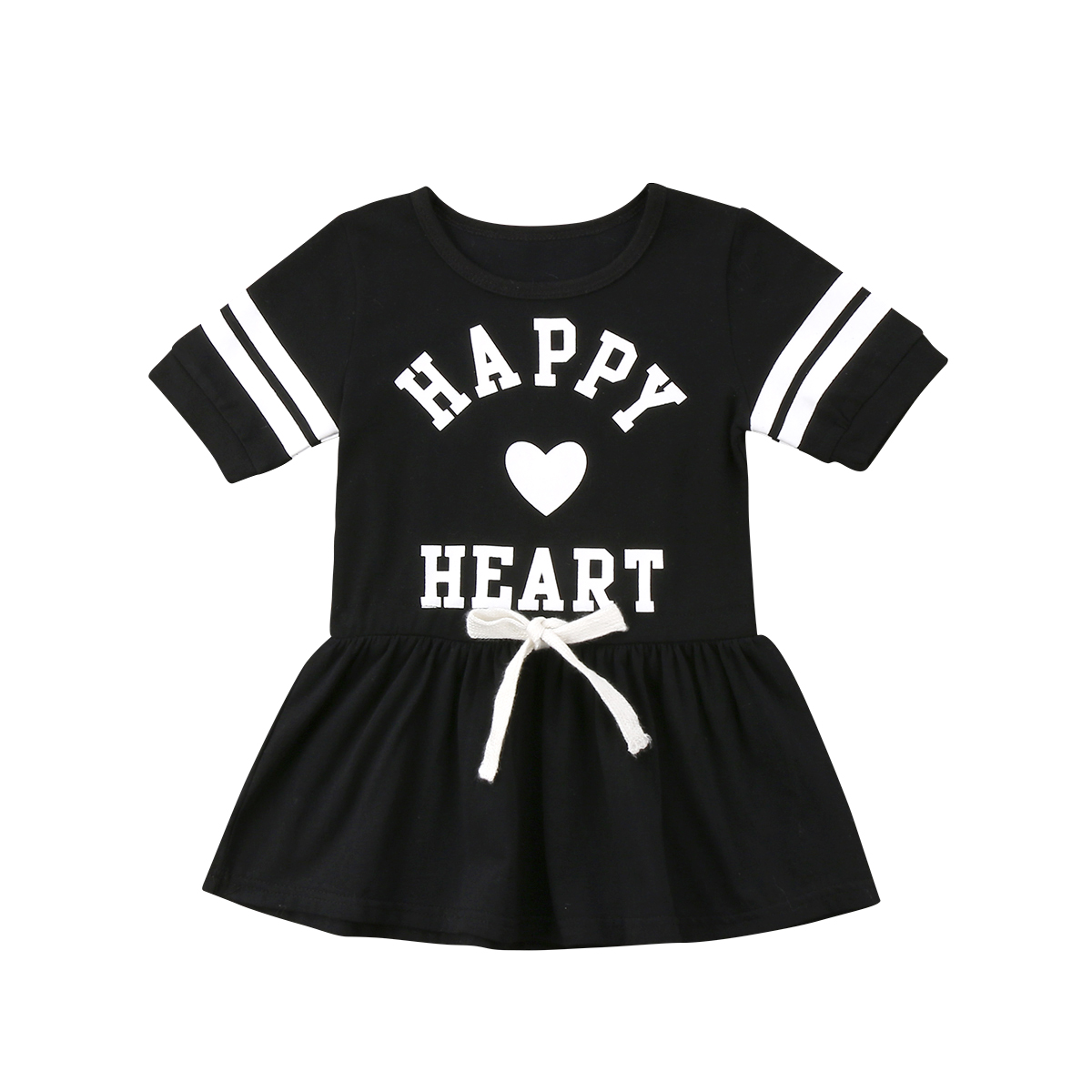 ade0ad22258 Detail Feedback Questions about Fashion Toddler Kids Baby Girls Short Sleeve  O neck Cotton School Style Tunic Printed Party Dress Sundress on  Aliexpress.com ...