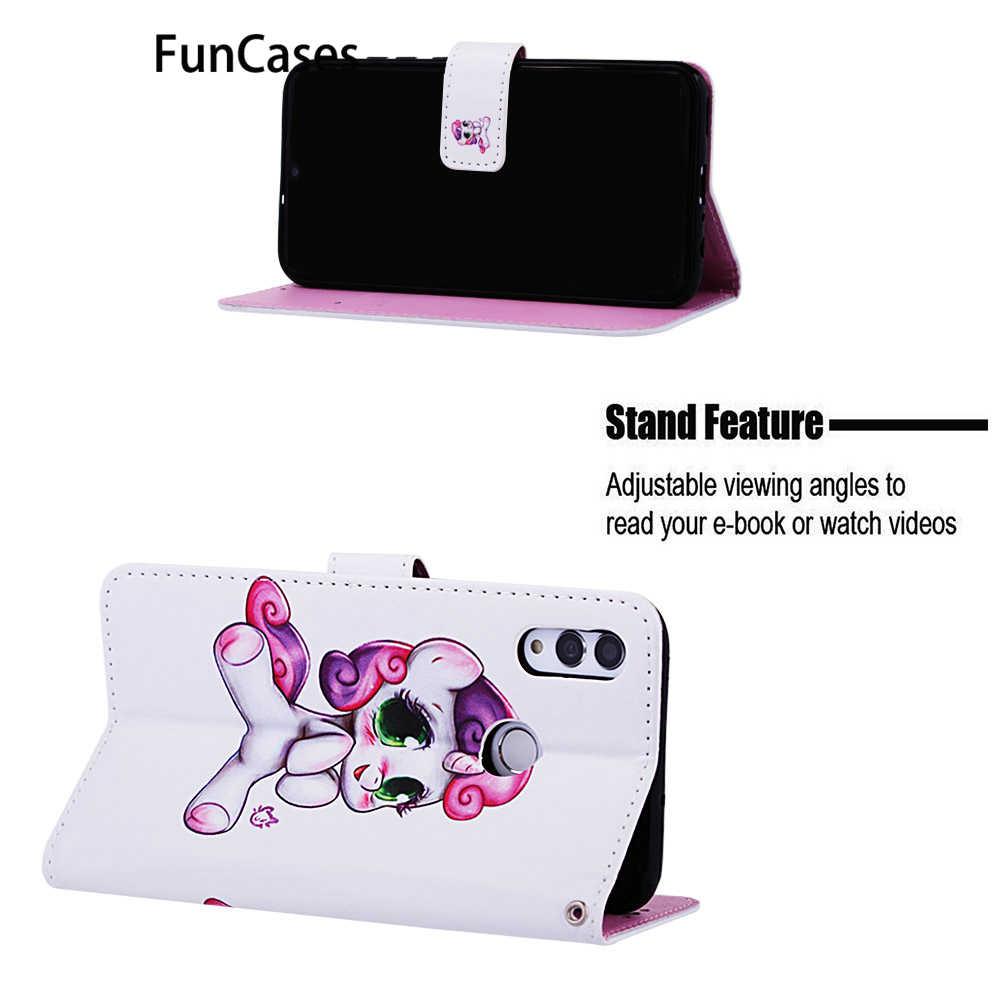 Sirène ajusté housses pour cellulaire Huawei P Smart 2019 Flip portefeuille livre pour mobile Huawei accesorios Honor 10 Lite Capinha