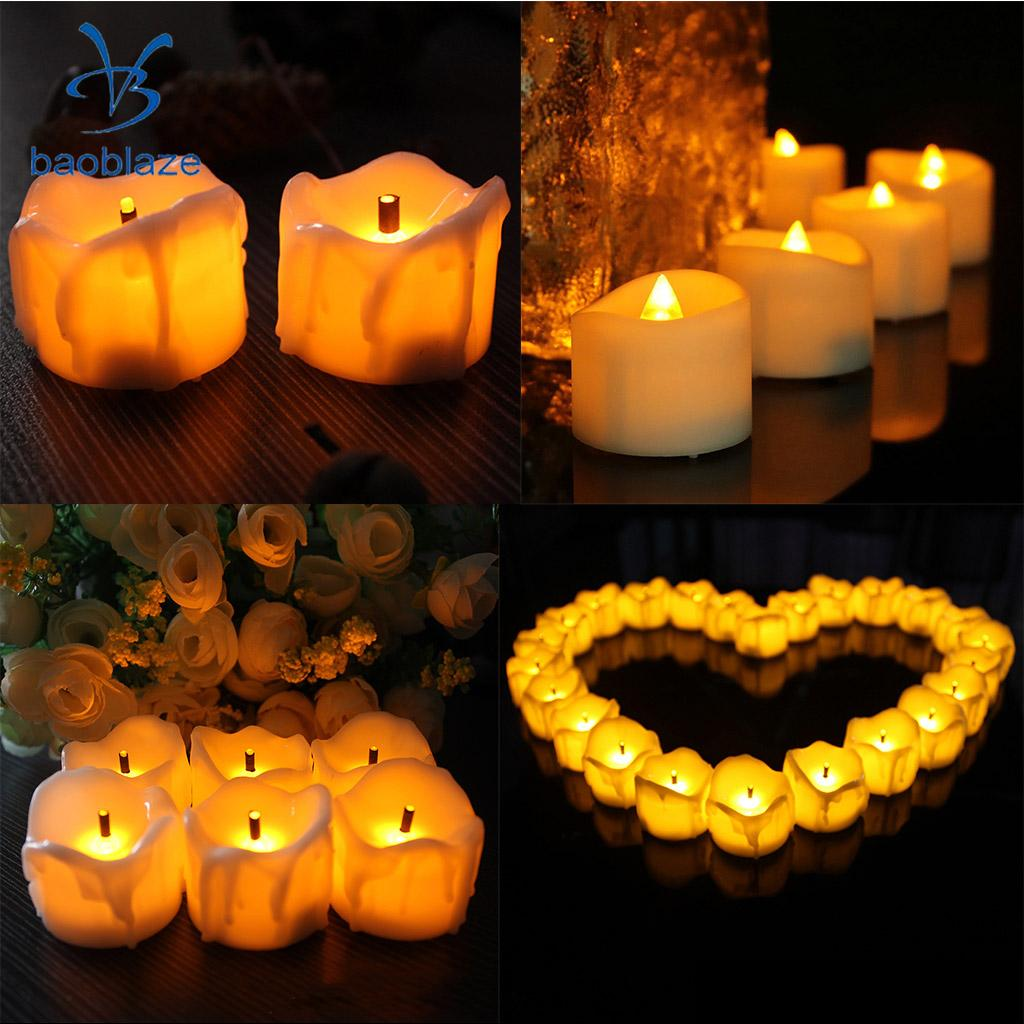50 Pieces  Electric LED Candles Flameless Candle for Home Holidays Party Decor Warm White|Night Lights| |  - title=