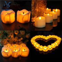 50 Pieces Electric LED Candles Flameless Candle for Home Holidays Party Decor Warm White