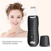Limpiador ultrasónico de iones para limpieza profunda de la piel, pala exfoliante, limpiador de poros faciales, eliminador de espinillas, Lifting Facial, recargable por USB, 53