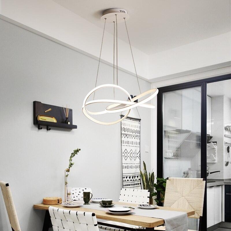 Image 3 - Postmodern minimalist chandelier atmosphere creative personality living room Dining Room Nordic art restaurant Chandelier-in Chandeliers from Lights & Lighting