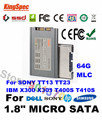 "L kingspec 1.8 ""Micro SATA SSD 64 GB SATA III II HDD Disco SSD Para hp 2530 p 2540 p 2730 p para dell adamo 13 para nokia booklet 3G"