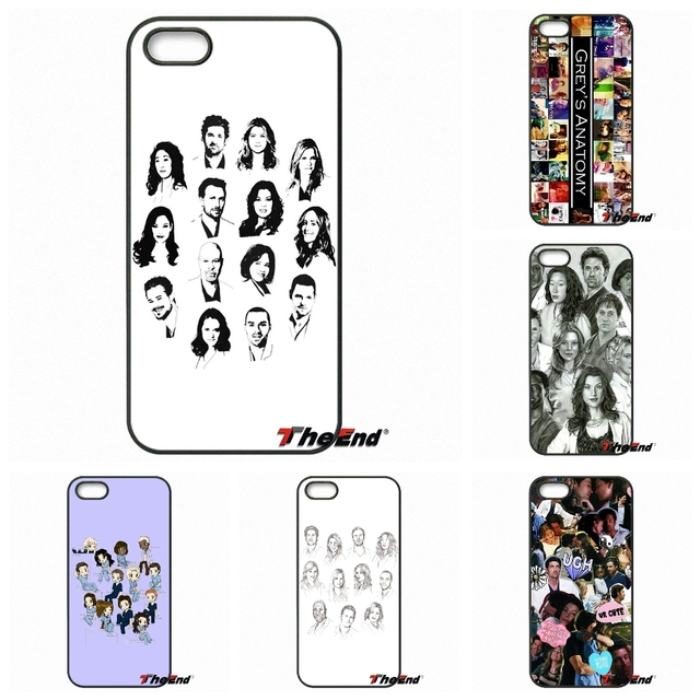 Famous Cartoon Greys Anatomy Collage Phone Case For iPhone X 4 4S 5 ...