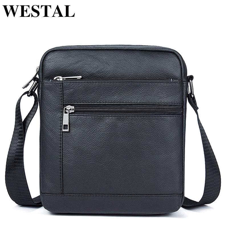 c6c995ede0386 WESTAL omuz çantası erkekler Hakiki Deri omuzdan askili çanta Erkek Deri  Küçük ipad Crossbody Çanta doğal. Satıcı:
