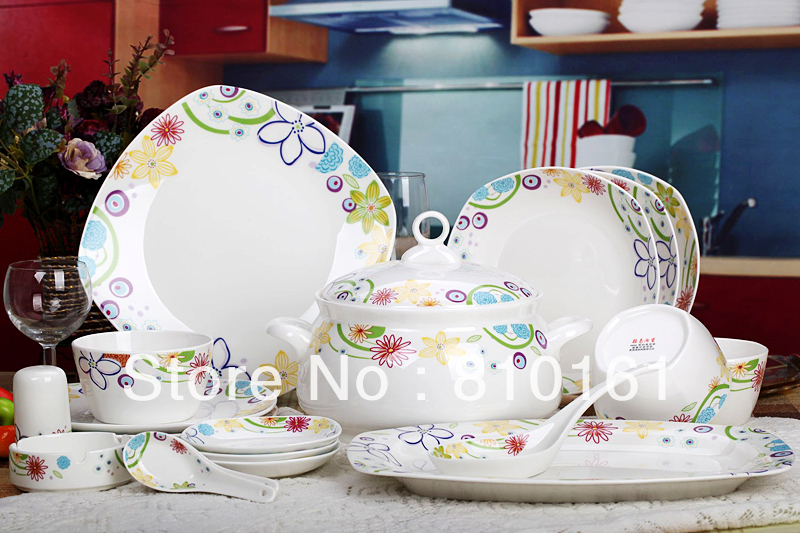 bone china 56PCS! ceramic porcelain tableware,dinnerware