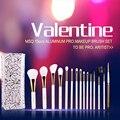 Profesional 15 unids ProTravel Kit de Pinceles de Maquillaje Cosmético Belleza Pinceles de Pelo Sintético Suave Con Estuche De Cuero PU para San Valentín
