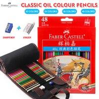 Faber Кастель 48 цвета классические цветные карандаши Lapis De Cor профессионалов художника картина маслом Цвет карандаш для рисования эскиз