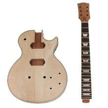 جيتار كهربائي من الماهوجني بعنق الجسم للجيتار الكهربائي LP عدة مشروع Luthier