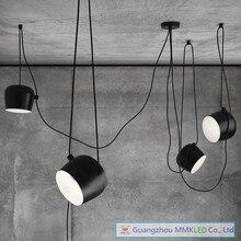 Free shipping Creative Pendant lamps personality restaurant cafe bar modern Drum Pendant light AC110-240V