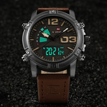 Men's Fashion Sport Watches Men Quartz Analog Date Clock Man Leather Military Waterproof Watch
