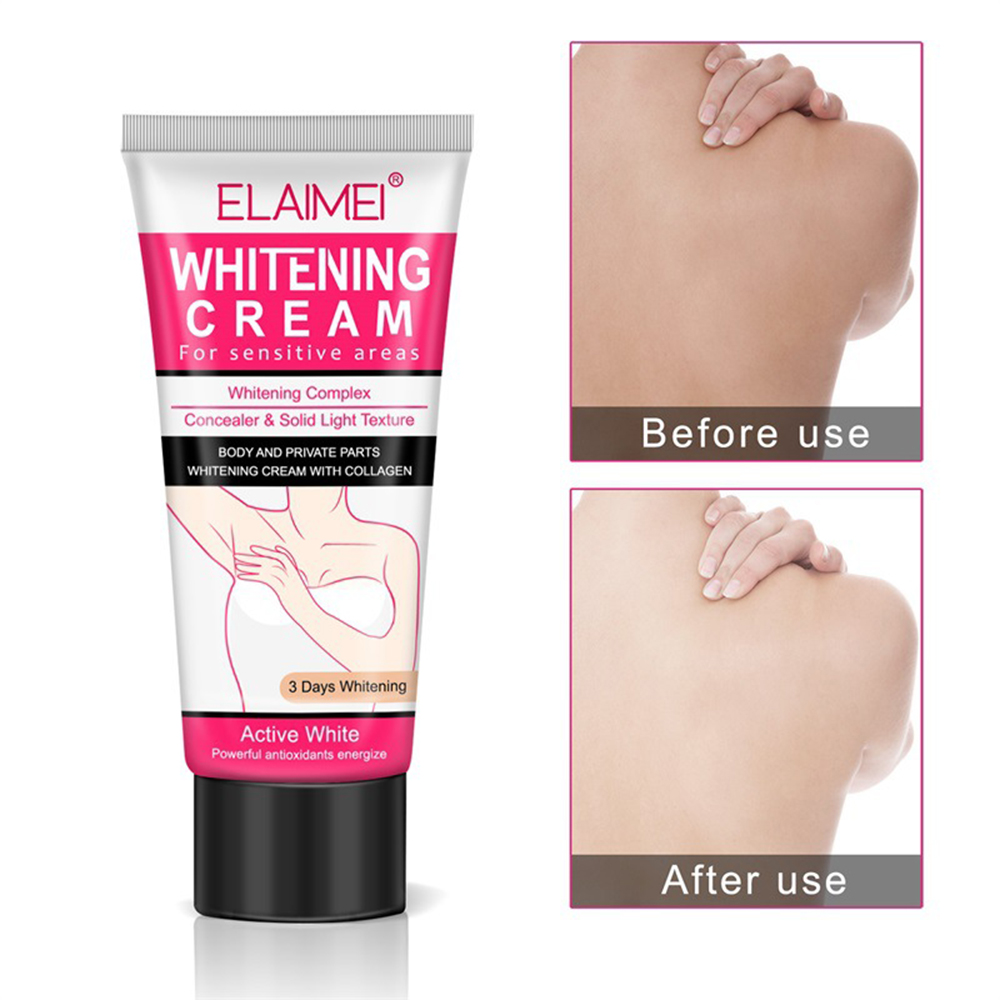 ELAIMEI Underarm Whitening Cream for Sensitive Area Skin Body and Private Parts Whitening Cream Skin Care Underarm Leg Arm knee 3
