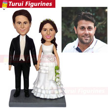 Personalized Polymer Clay Bobble Head Figurines Based on Photos Custom Gift wedding cake topper bobblehead custom handmade dolls