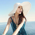 Classic Outdoor Casual travel Straw hats for women wide brim floppy summer sun hat high quality Foldable caps