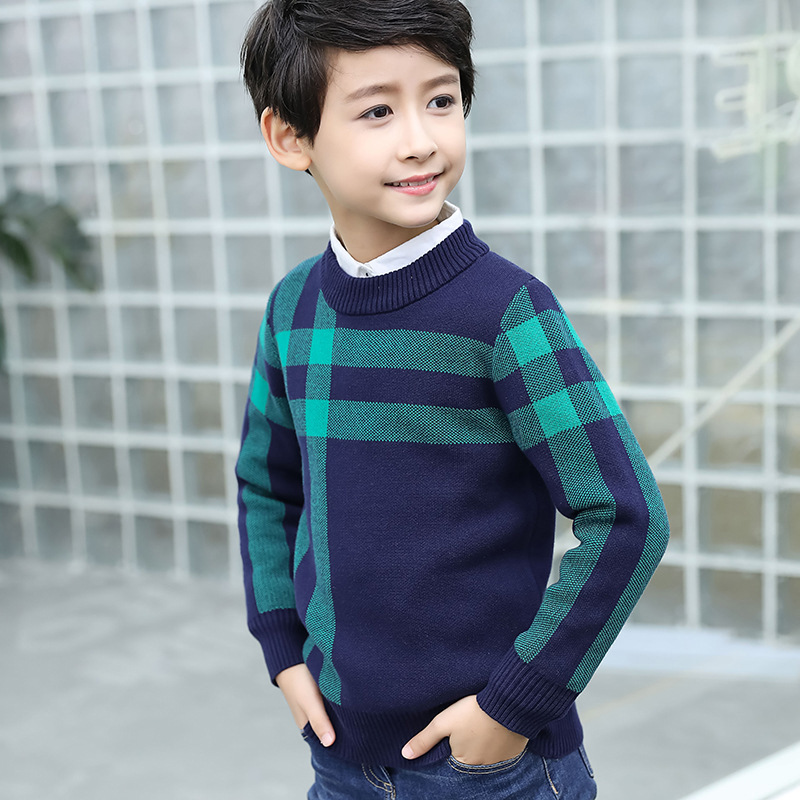 Winter Cotton products clothing Boy's Sweater O-Neck pullover Sweater  Kids clothes children's Sweater winter Keep warm 3