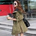Зимняя Куртка Женщины Пальто Новый 2017 Зимнее Пальто Женщины Парки Army Green Большой Капюшоном Пальто Женщина Верхней Одежды