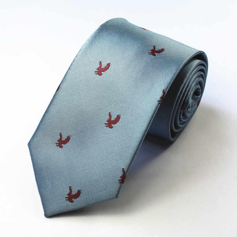 Ricnais hayvan erkek bağları ipek jakarlı örgü noel kravat ince kravat Gravata klasik moda iş düğün kravat erkekler için