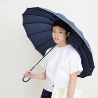 Tiohoh Long Umbrella Rain Women Men Sailor Suit Style Aluminum 16 Ribs Windproof Golf Umbrellas Outdoor Long handle Paraguas