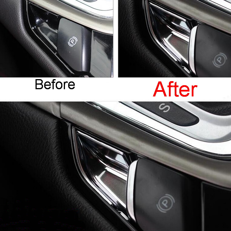 2 PCS DIY Car styling NEW ABS Chrome Electronic Handbrake Decorative Stickers Cover Case For 2013 & Popular Car Parts Ford-Buy Cheap Car Parts Ford lots from China ... markmcfarlin.com