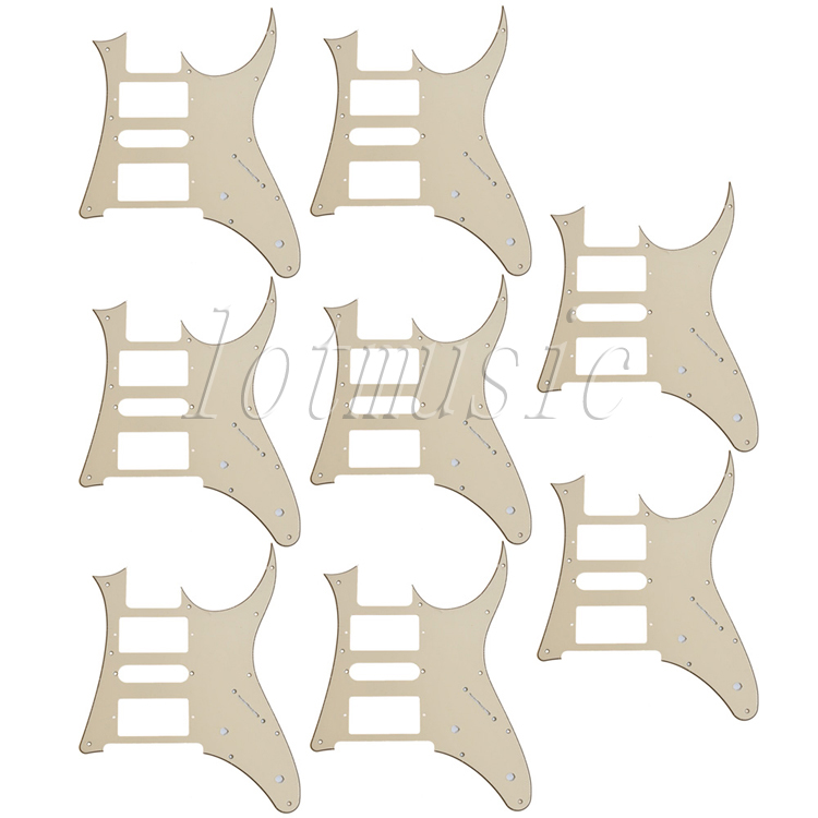 8pcs new cream HSH Guitar Pickguard For  Ibanez RG250 style replacement musiclily 3ply pvc outline pickguard for fenderstrat st guitar custom