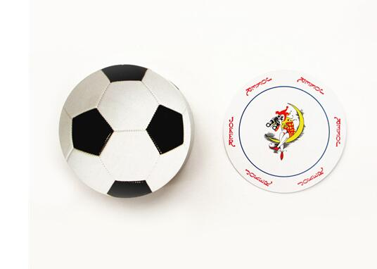 nonstandard round size football baseball rugby poker set round ovals shape playing card set as collection novelty pokers