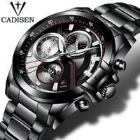 NEW 2017 Brand CADISEN Watches Men Fashion Casual Quartz Watch Man Waterproof Sports Military Stainless Steel