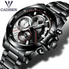 NEW 2017 Brand CADISEN Watches Men Fashion Casual Quartz Watch Man Waterproof Sports Military Stainless Steel