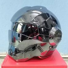 Moto scooter moto electroplate cinza homem de ferro capacete Masei capacete da motocicleta metade capacete aberto da cara do capacete casque motocross