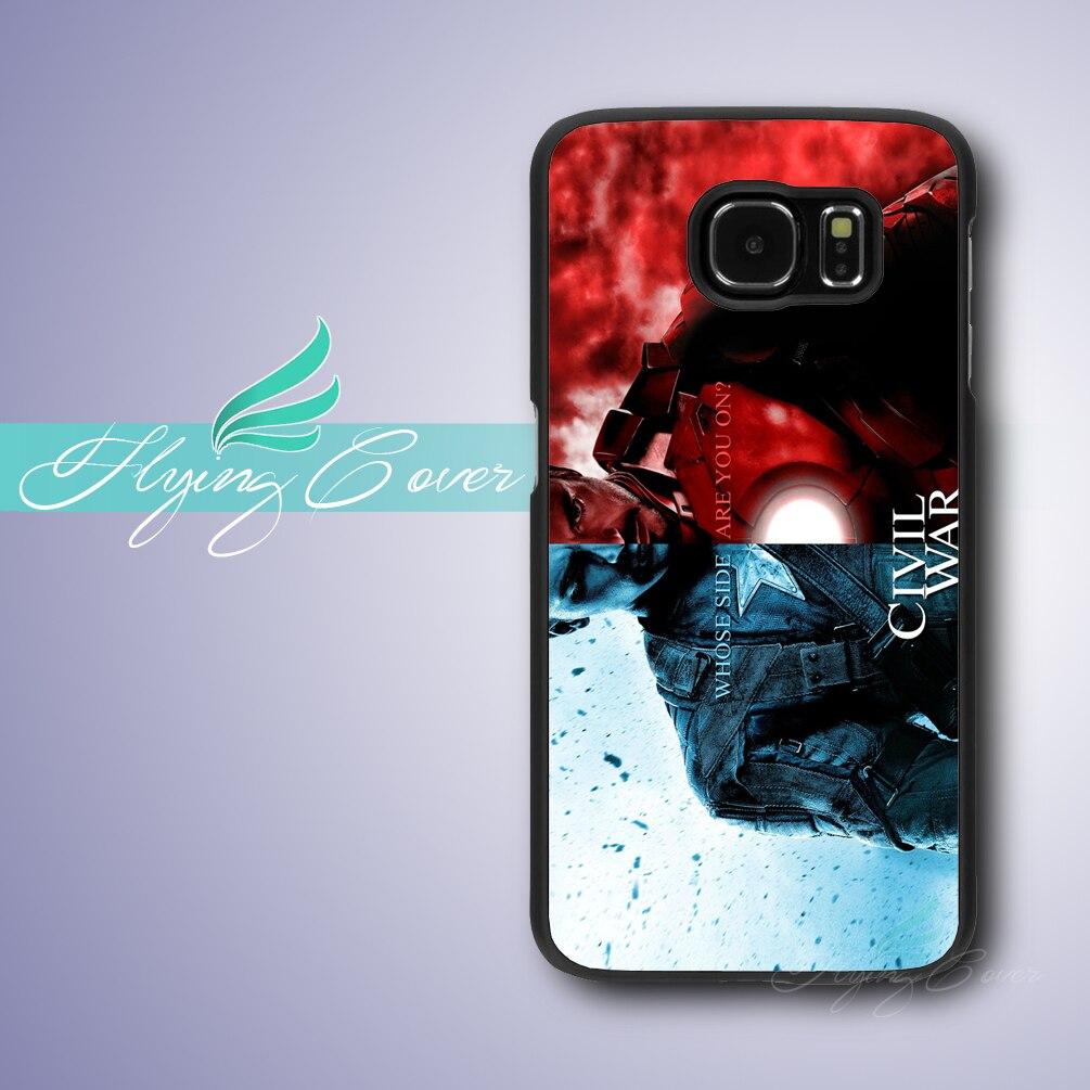 Coque Captain America Guerre Civile Téléphone Cas pour Samsung Galaxy S3 S4 S5 S6 S7 Active Mini Cas pour Samsung Galaxy Grand premier.