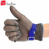 Safety Gloves work gloves Cut Proof Stab Resistant Kitchen working gloves Stainless Steel Metal Mesh Butcher Clothing cutting