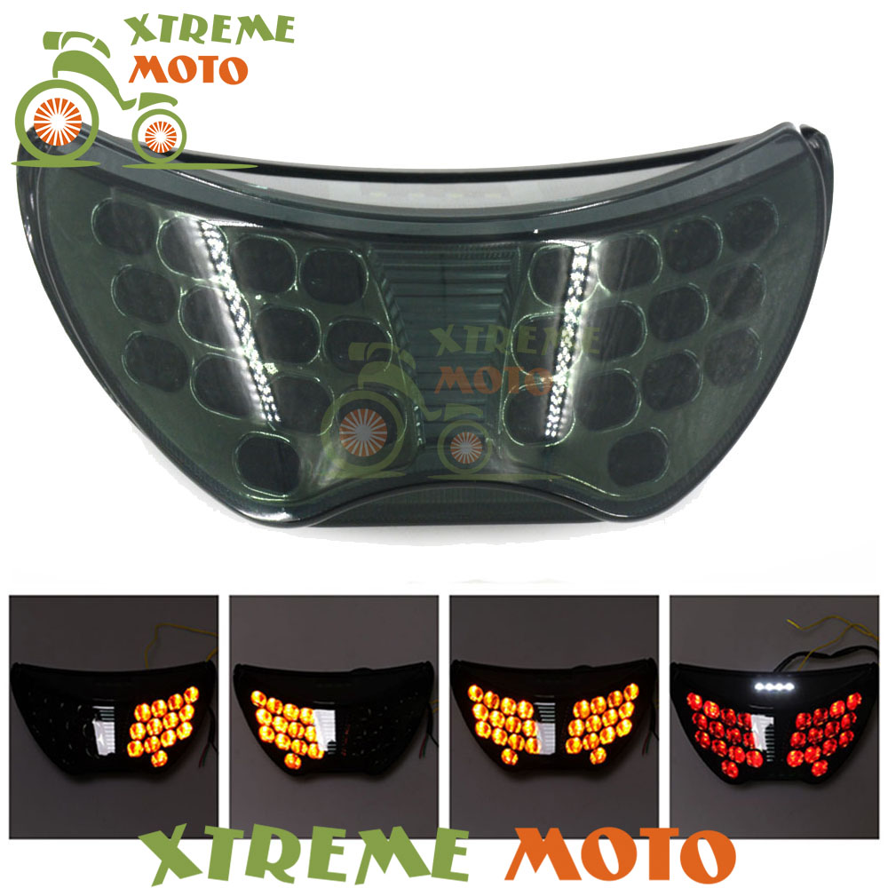 Motorcycle LED Rear Turn Signal Tail Stop Light Lamps Integrated For Honda CBR 600 CBR600 F4 1999 2000 99 00 F4I 2004 2005 2006 custom motorcycle injection fairing kits for honda 1999 2000 cbr600f4 cbr600 f4 cbr 99 00 600 f4 red blue bodyworks fairngs kit