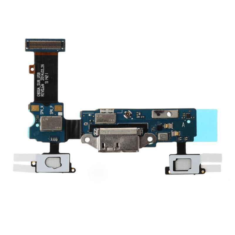 Micro Porta USB Tomada de Carregamento Dock Connector Substituição Flex Cable para Samsung Galaxy S5 G900F G900A Microfone