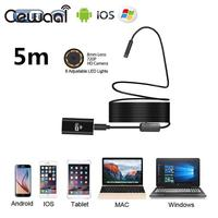 8mm HD 720P 5M 8LED WiFi Endoscope Waterproof Video Camera For Android IOS Phone PC Wireless