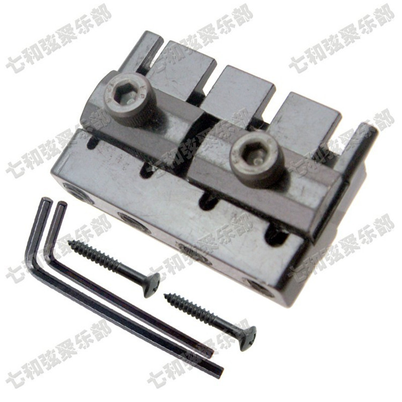 A set Black 4 String Headless Bass Guitar Locking Nut alice a009cp multi functional string winder for guitar bass black