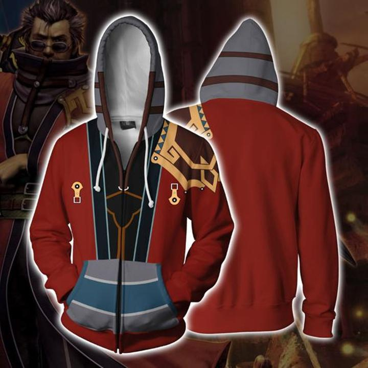 Game High Quality Large Size S-5XL Final Fantasy Sweatshirt 3D Hoodies Cosplay Man 3D Zipper Hoodies Thin Sweatshirts Coat