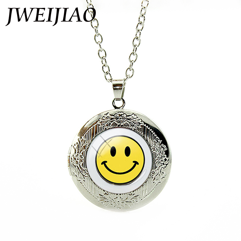 JWEIJIAO Good Mood Jewelry Bright Smile Face Pendant