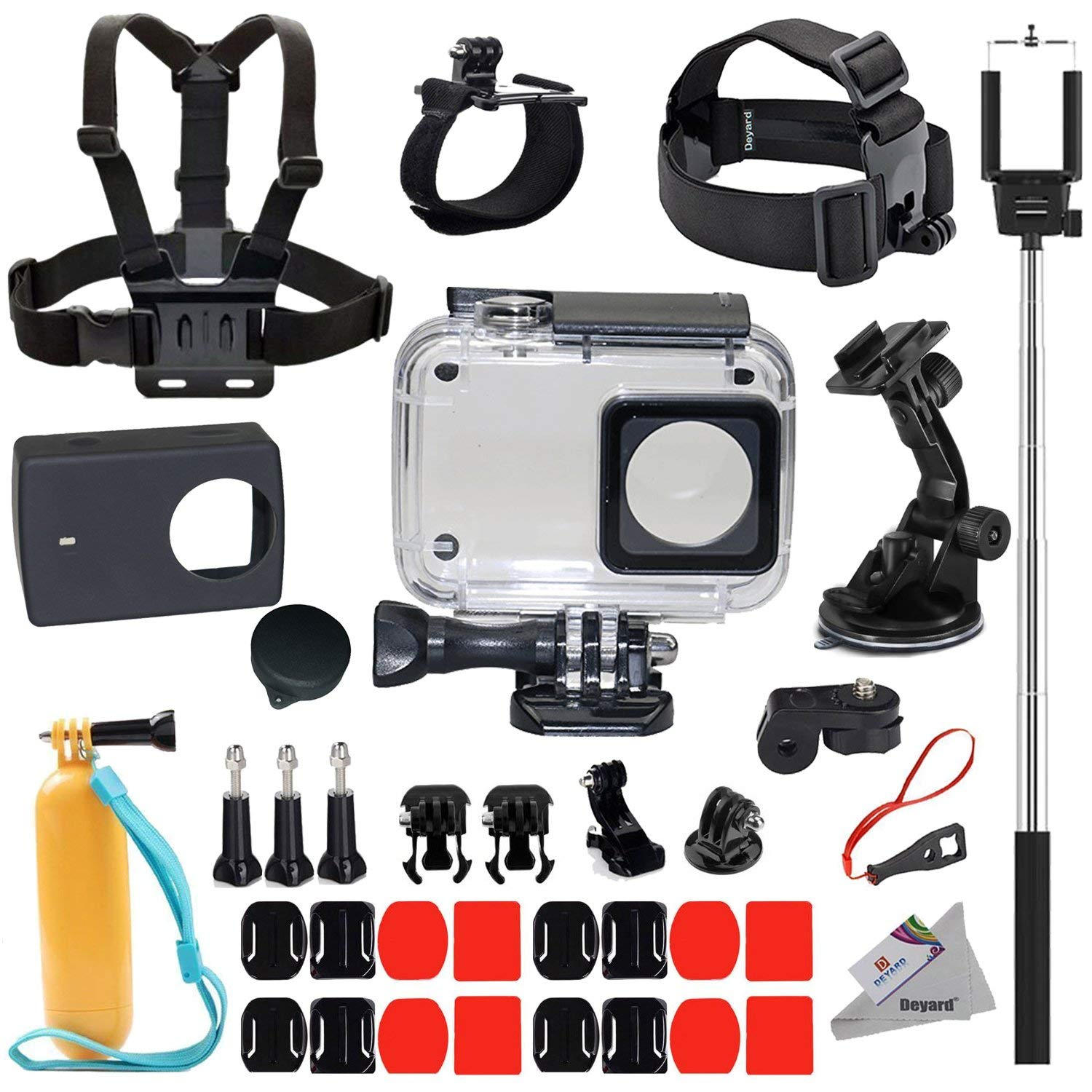 Protective Waterproof Housing Case 35 in 1 Accessories Bundle for Xiaomi 4K/4K+/Yi Lite/YI Discovery Action Camera 2 35m diving waterproof touch cover case for xiaomi yi 4k 2 ii action camera for xiaomi yi protective shell camera accessories