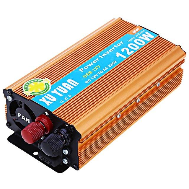 Car Power Inverter 1200W Watt Converter Power Supply DC 12V to AC 2200V USB Adapter Portable Voltage Transformer Car Chargers